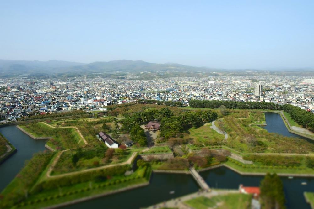 A look of Goryokaku Fort from Goryokaku Tower.