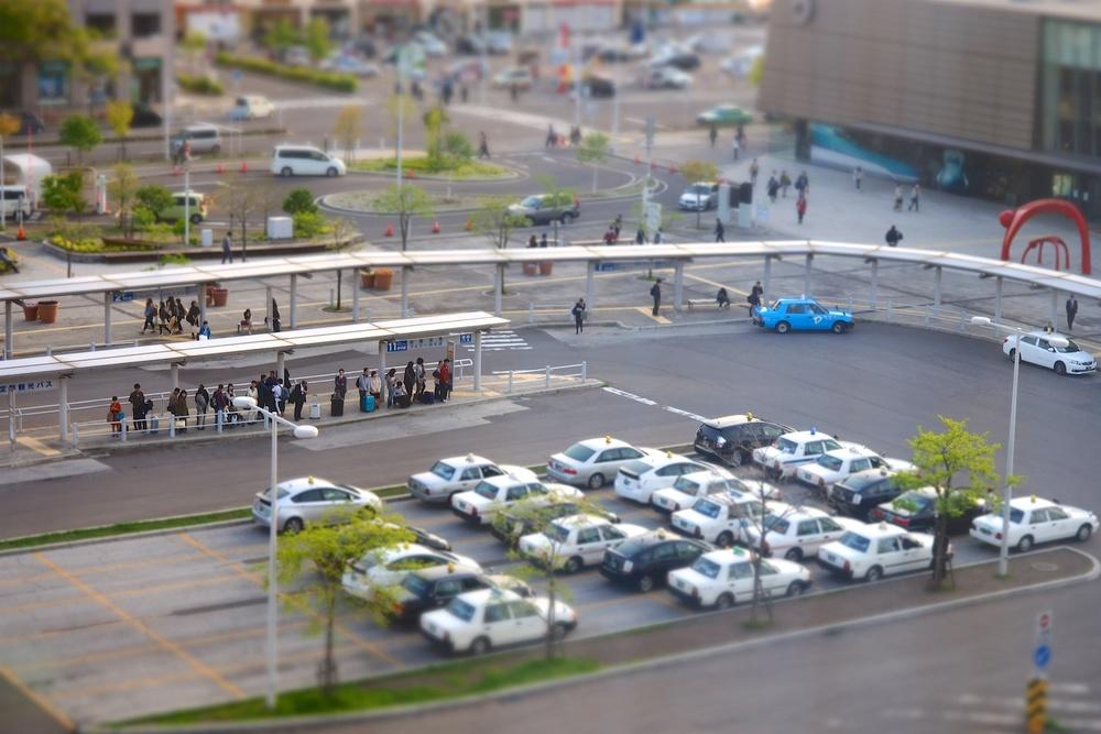 Hakodate Bus Terminal outside of Hakodate Station.