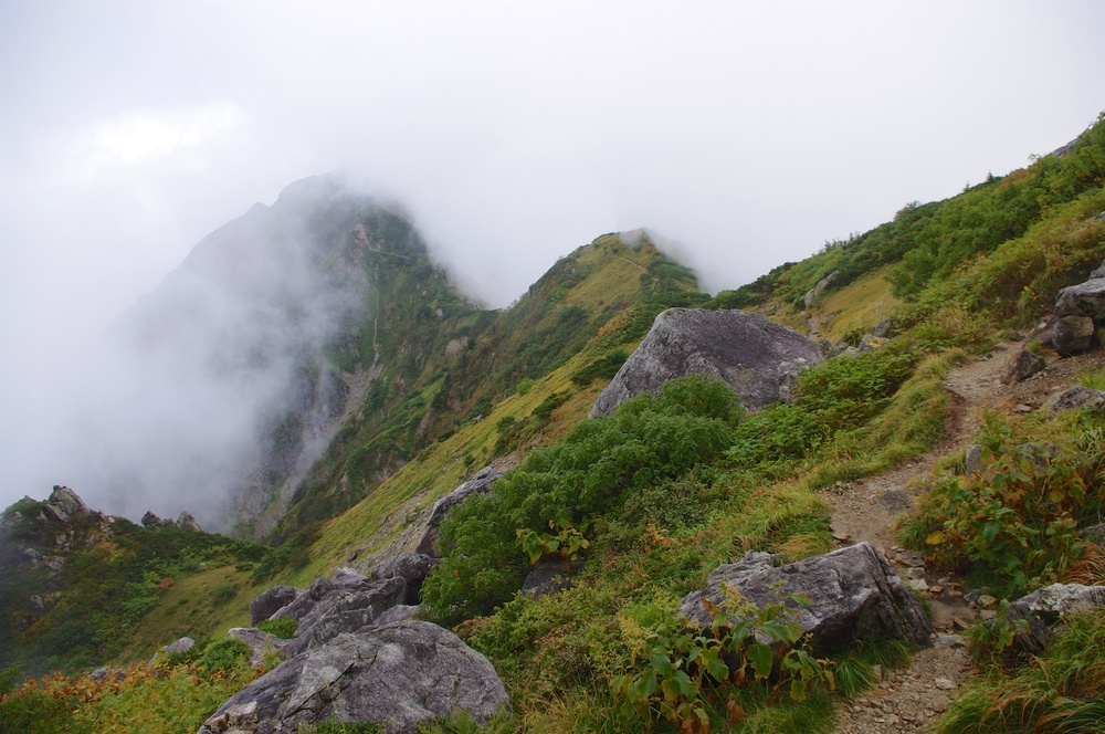 Heading out to Dainichi in the mist. Taken 9.23.2011