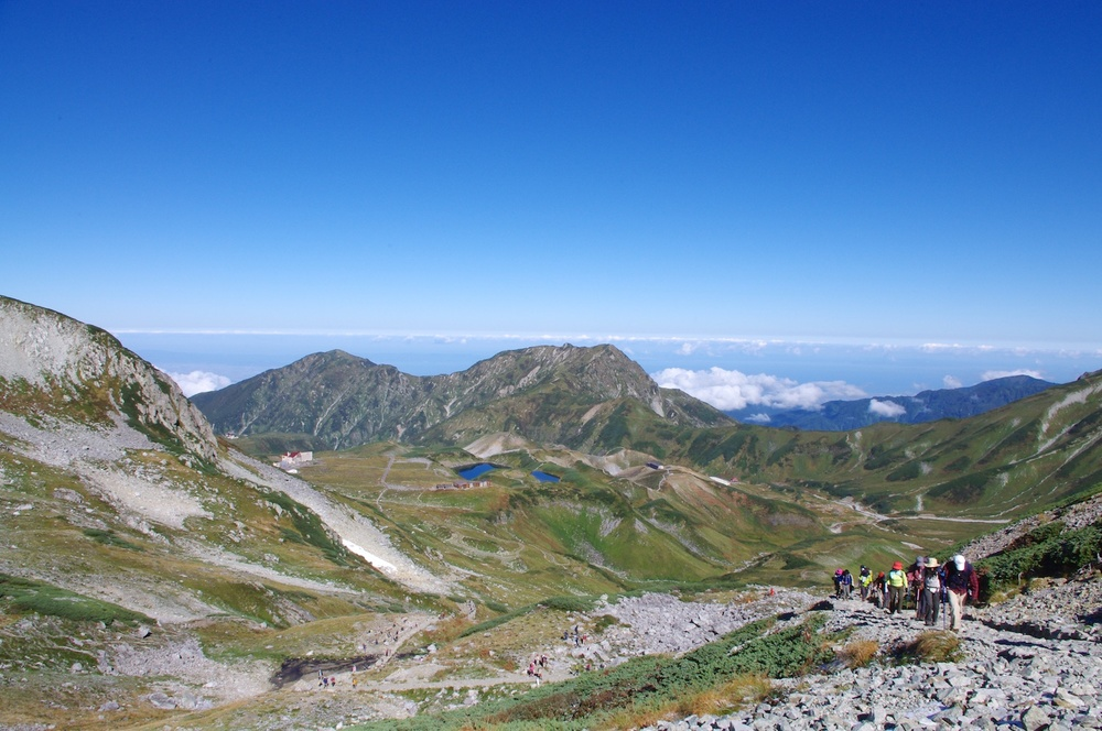 Looking back at Mt. Dainichi, Okudai and the caldera.  Taken 9.24.2011