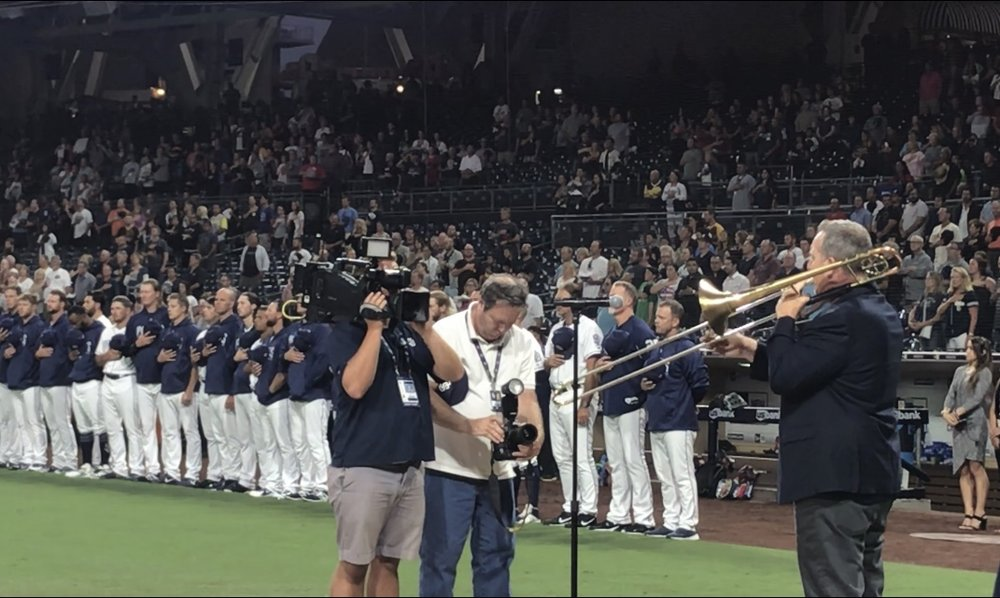 performing the national anthem with the san diego padres on 9/17/2018