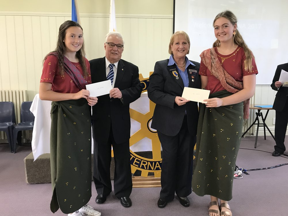 Best Delegation Costume Award - Delegation: Bangladesh - Kate & MiettaSchool:Toorak CollegeSponsored by the Rotary Club of Mount Eliza