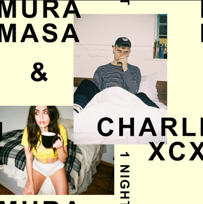 Mura Masa &Charlie XCX - 1 Night Mura Masa is a London-based producer. Together with Charli XCX he made a track about all those loves that ended right at the start on '1 Night'. The single has a pop hook build around the famous Mura Massa steel drums combined with Charli's vocals. It's the latest single from the producer's forthcoming debut album To Fall Out Of Love To.