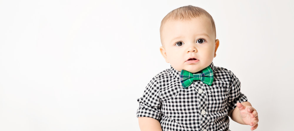 2-Green Plaid baby Boy bow tie.jpg