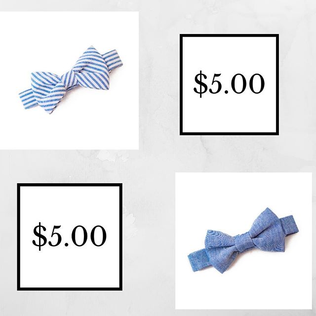 We aren't kidding! All products (including these perfect springtime bowties) are on sale for $5.00!
