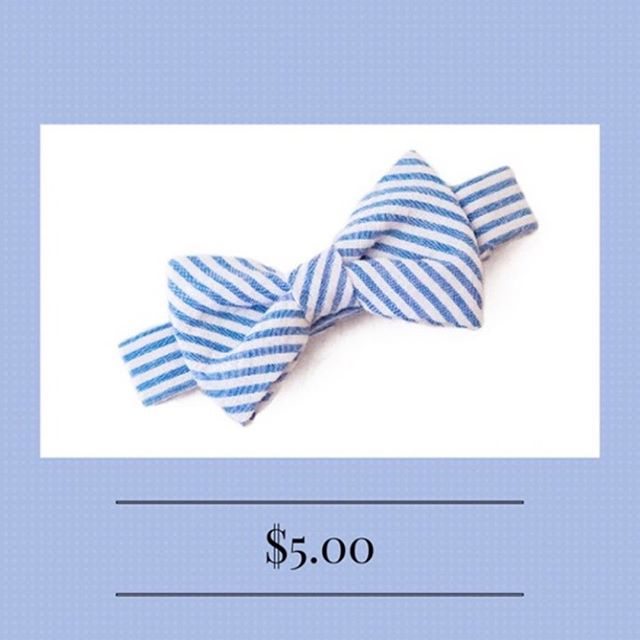 Your little man will look dapper all summer in this #seersucker bowtie!
