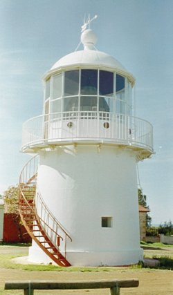 There is a real lighthouse at the Hope Cottage Museum, a 3 minute drive away