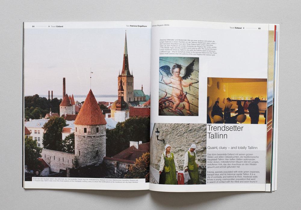 Inka Schnettler Gestaltung für das Lufthansa Magazin