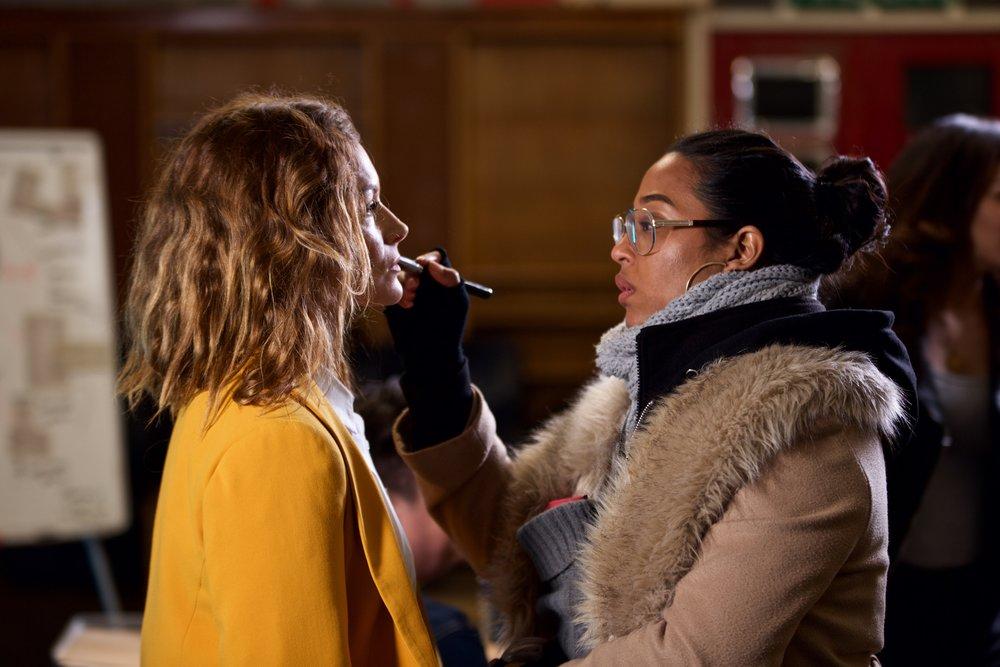 Key Make up artist  Shaz Roye  with Charlotte Hunter