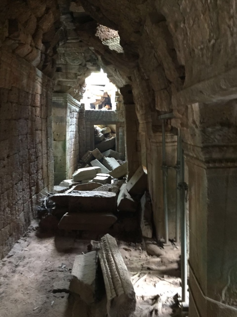 Inside the ruins of Ta Prohm