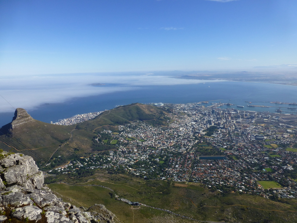 1. Take a cable car up Table Mountain