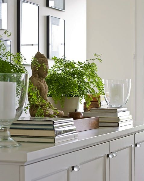 Flowers or plants placed close to the entrance way creates positive energy when entering the home
