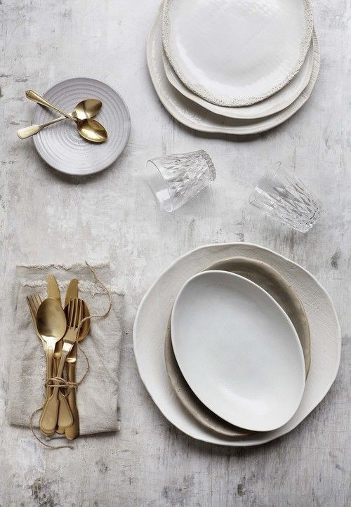 ceramic plates and utensils