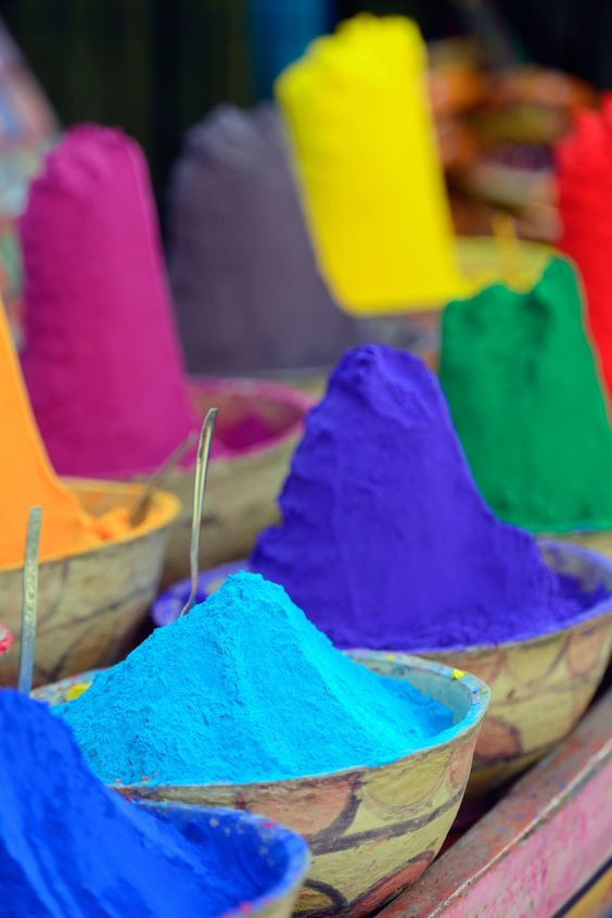 colourful powder india