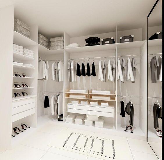 modern minimal closet