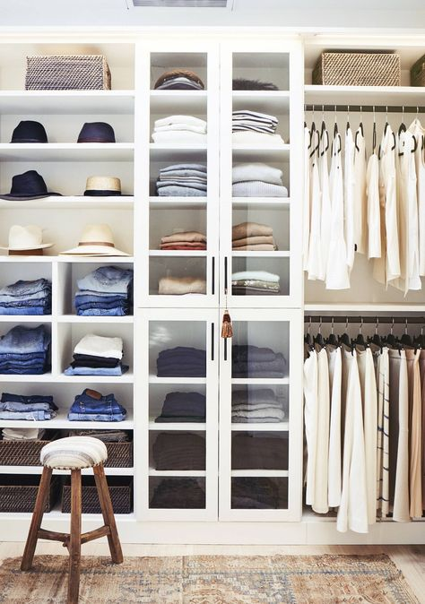 Clear closet with hanging space