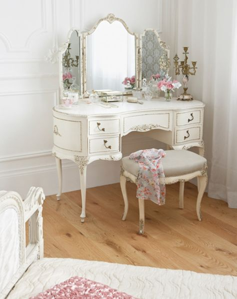 4. Classic French Vanity Table