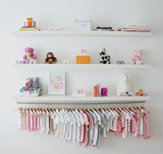 Kids room extra length floating shelf
