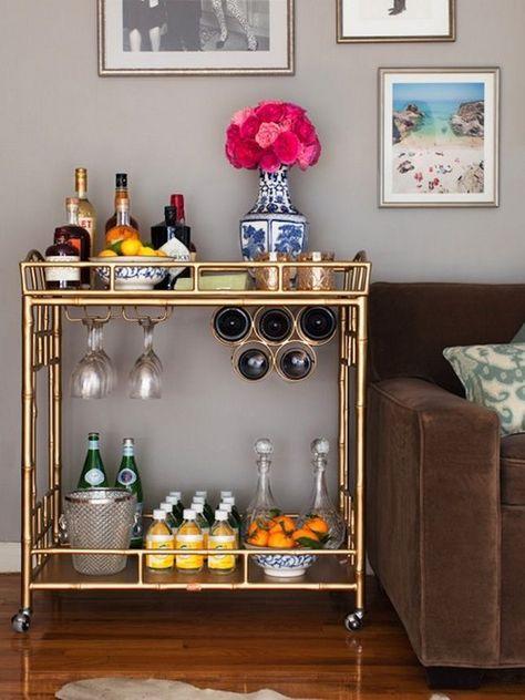 gold mini bar