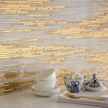 gold tiled interior