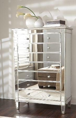 silver mirrored dresser