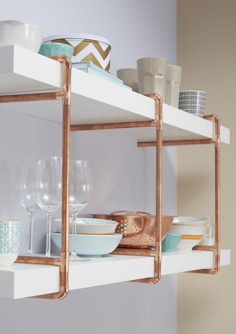 copper shelving