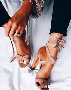 STRAPPY NUDE HEELS -     THE PERFECT COMPLIMENT TO ANY OUTFIT