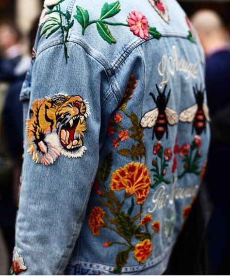 Unique & beautiful  - Intricate designs on a denim jacket