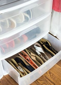 Sandals storage side by side