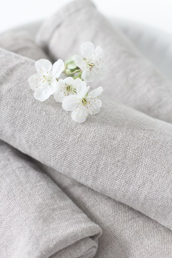 Linen fabric and flower