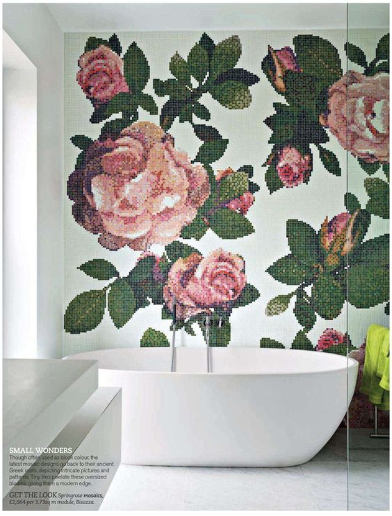 flower bathroom