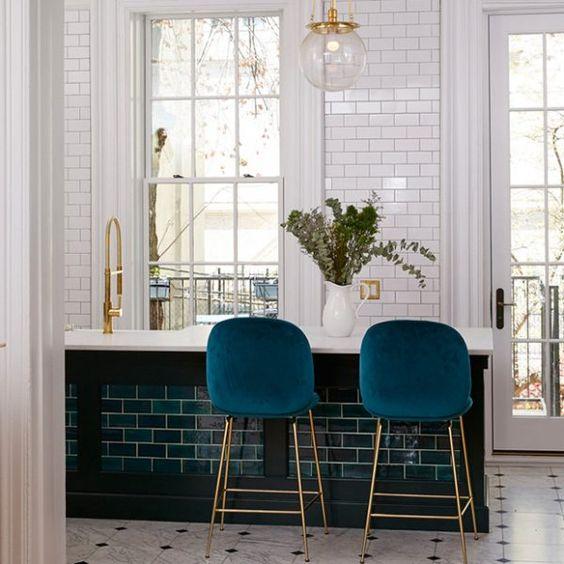 blue kitchen chairs