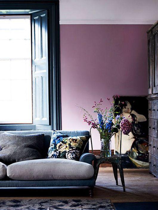 purple colour wall