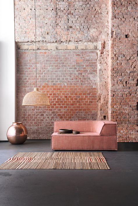 exposed brick wall in room