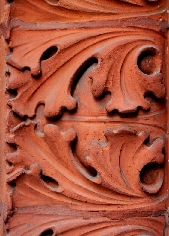 Clay is easy to mould into intricate patterns that add a dynamic feel to any surface.