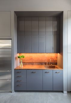 kitchen cabinet with concealed storage