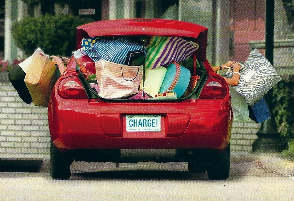 car stuffed with stuff