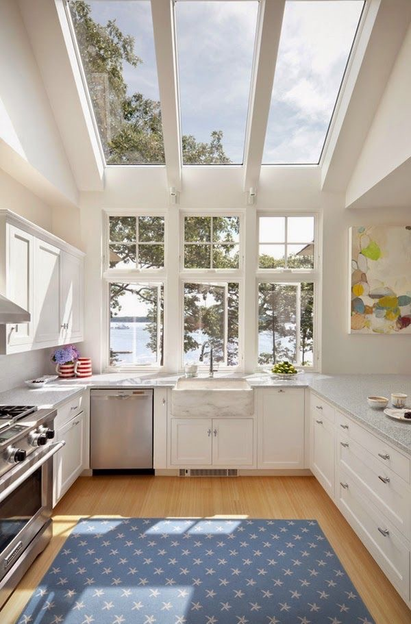 skylight window in kitchen