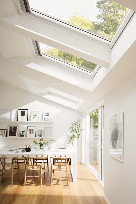 skylight window in living room