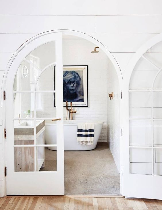 white french door