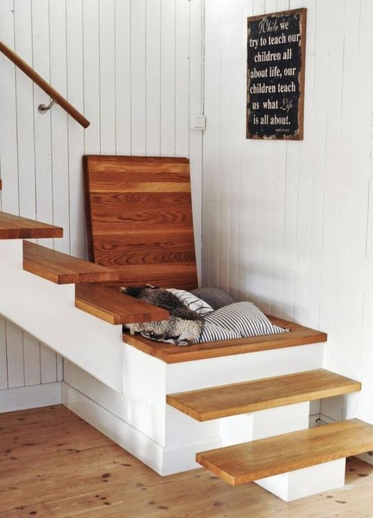 Concealed Storage In the Stairs