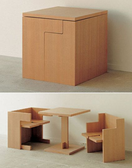 A Cube Table That Turns Into A Table & Chairs