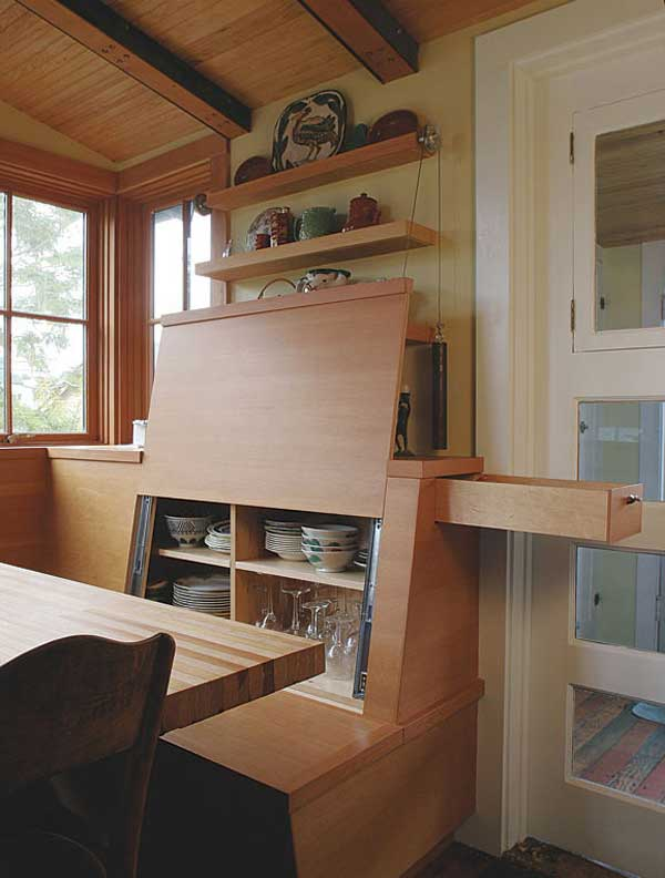 Secret Storage Kitchen Bench