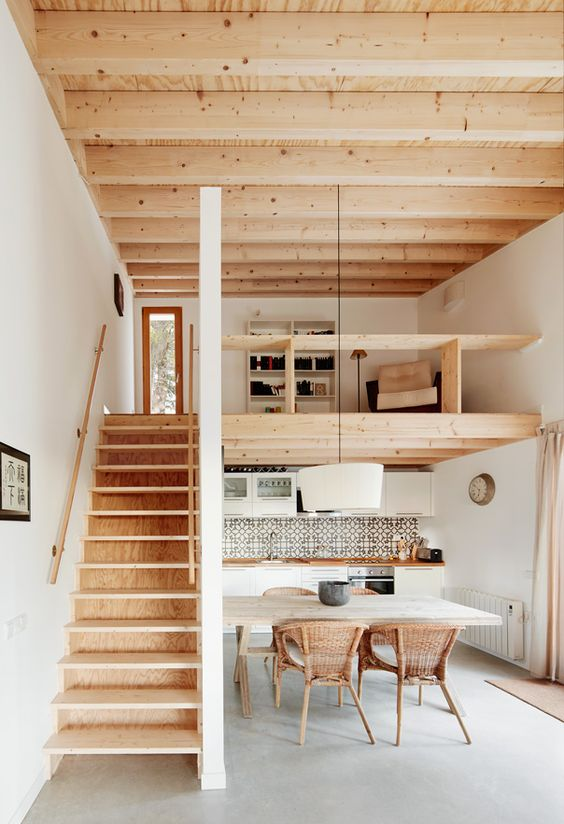 wooden interior house