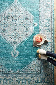 turkish blue rug