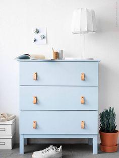 blue drawer chest