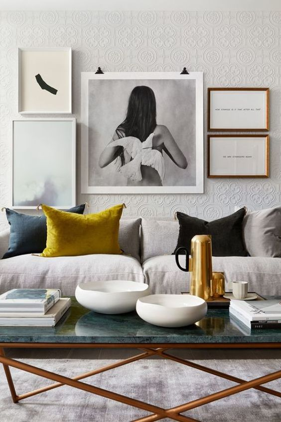 grey interior with couch