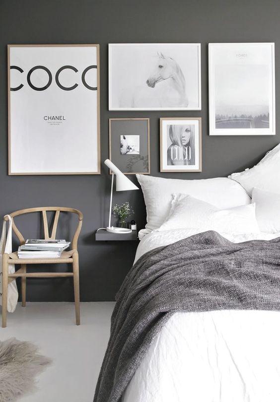 grey bedroom interior