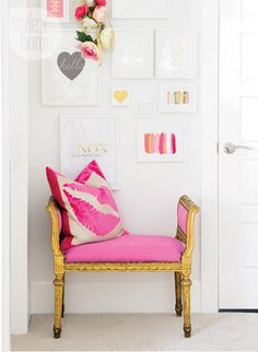 pink chair interior