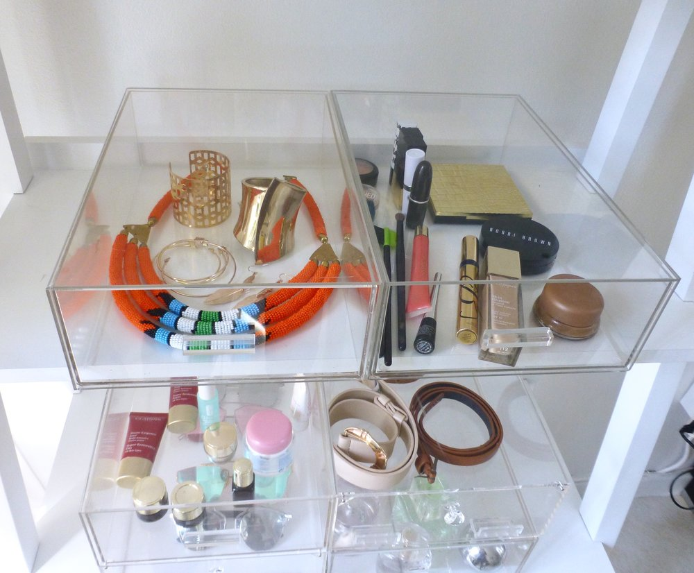 Crystal clear acrylic shoe and storage boxes